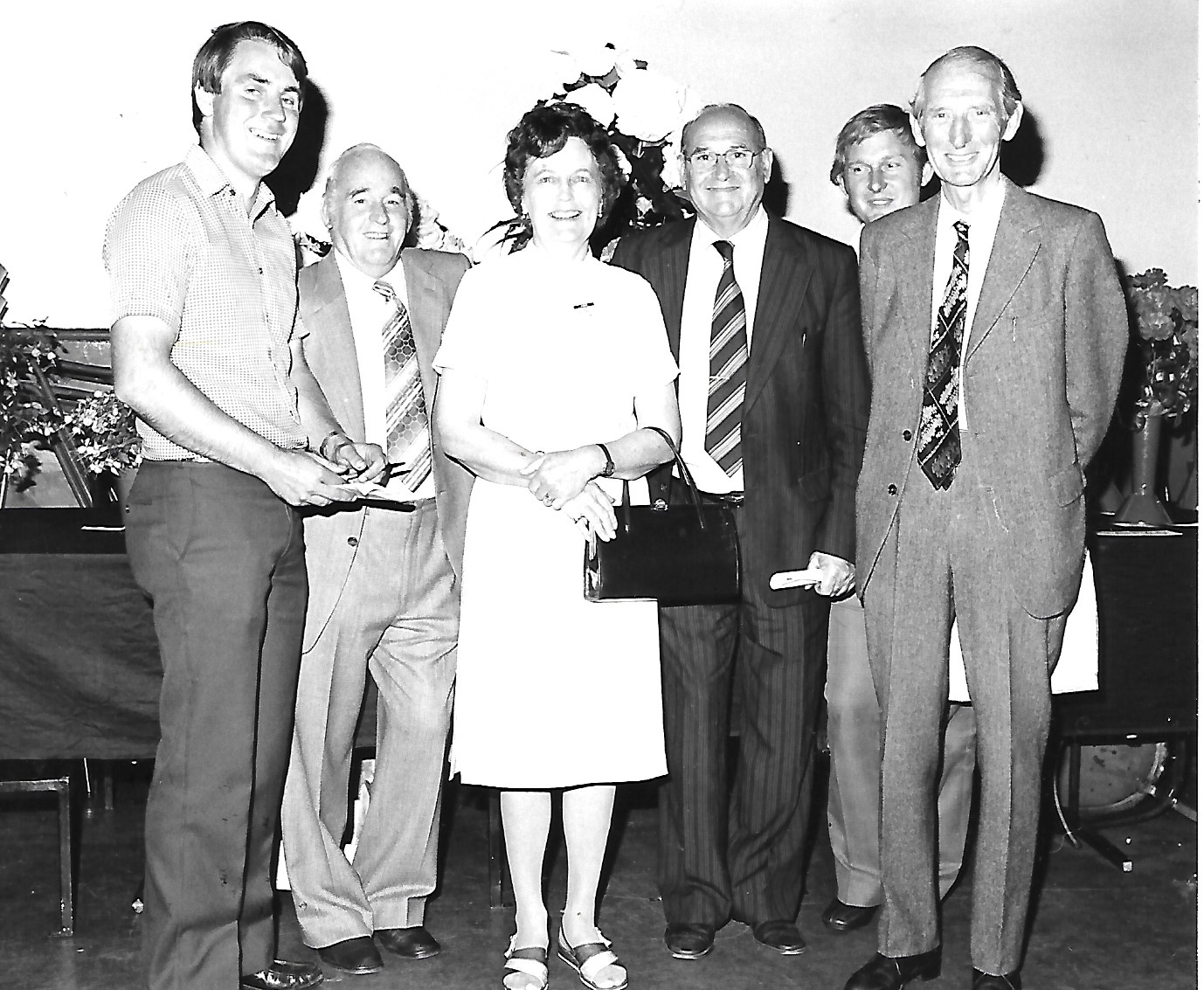 Judges at the Southport Chrysanthemum Society show at Botanic Gardens in Churchtown in Southport in September 1981