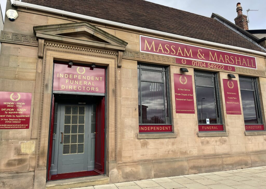 Massam and Marshall funeral directors on Manchester Road in Southport